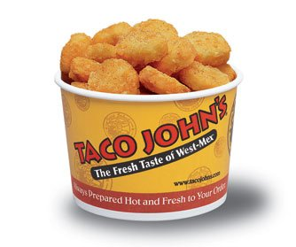 I put a picture of Taco Johns' Potato Oles instead. Because if you haven't had them, you are a second class human being as far as I'm concerned.